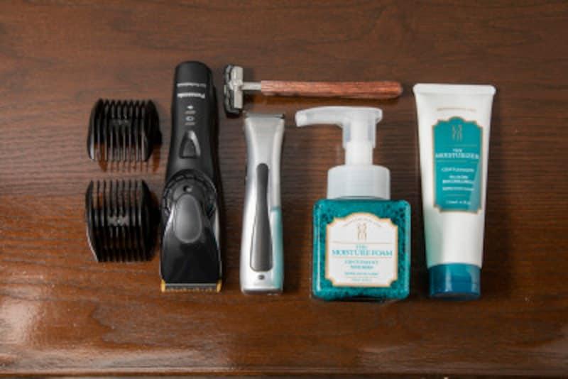 髭の手入れに使う道具