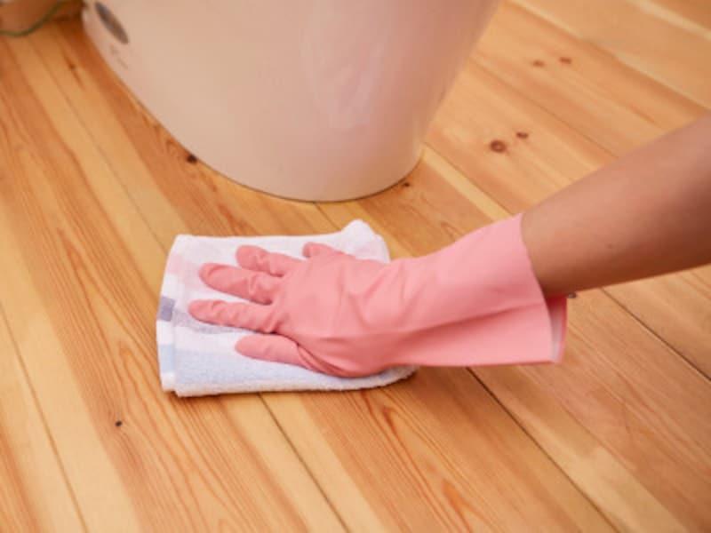 トイレ掃除:床