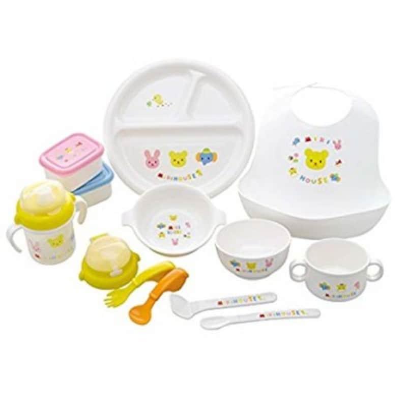 出産祝いの定番ミキハウスの食器「豪華なテーブルウェアセット」