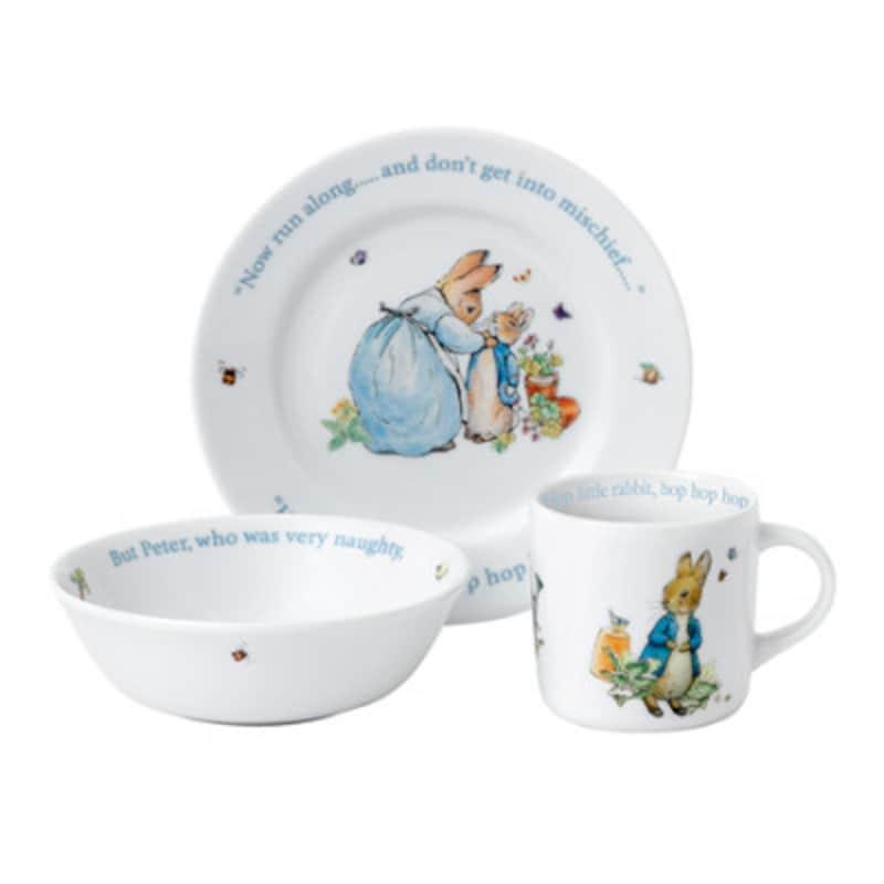 出産祝いの食器におすすめのウェッジウッド「ピーターラビット」(3ピースセット)