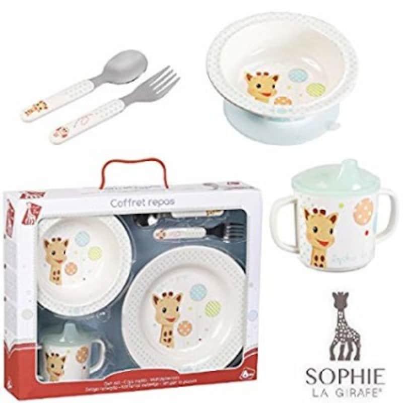 出産祝い食器Vulli(ヴュリ社)「キリンのソフィーファーストミール食器セット」