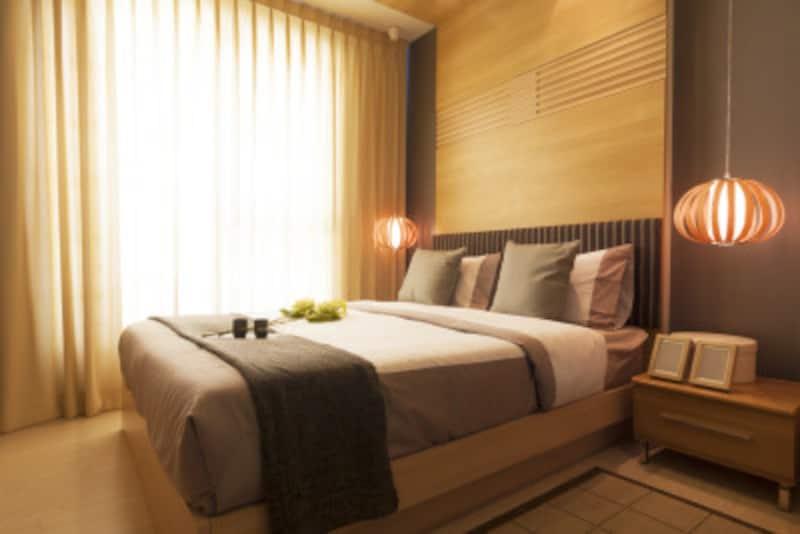和モダンなインテリア実例:明るく上品な和モダンベッドルーム