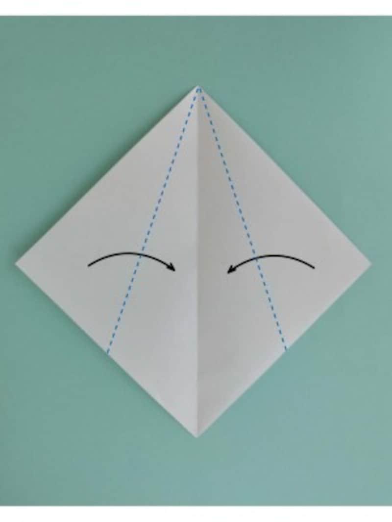ハロウィン折り紙|おばけの折り紙折り方1
