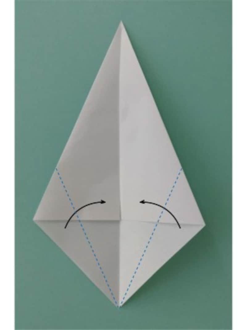 ハロウィン折り紙|おばけの折り紙折り方2