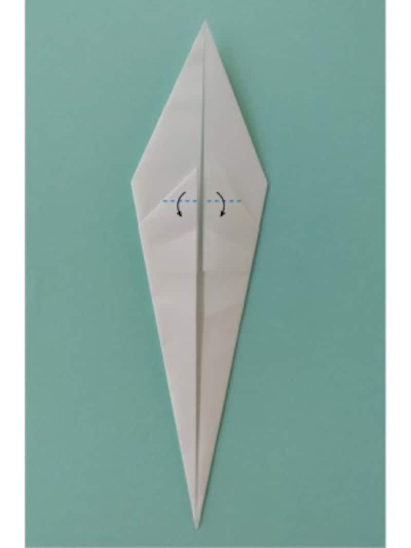 ハロウィン折り紙|おばけの折り紙折り方6