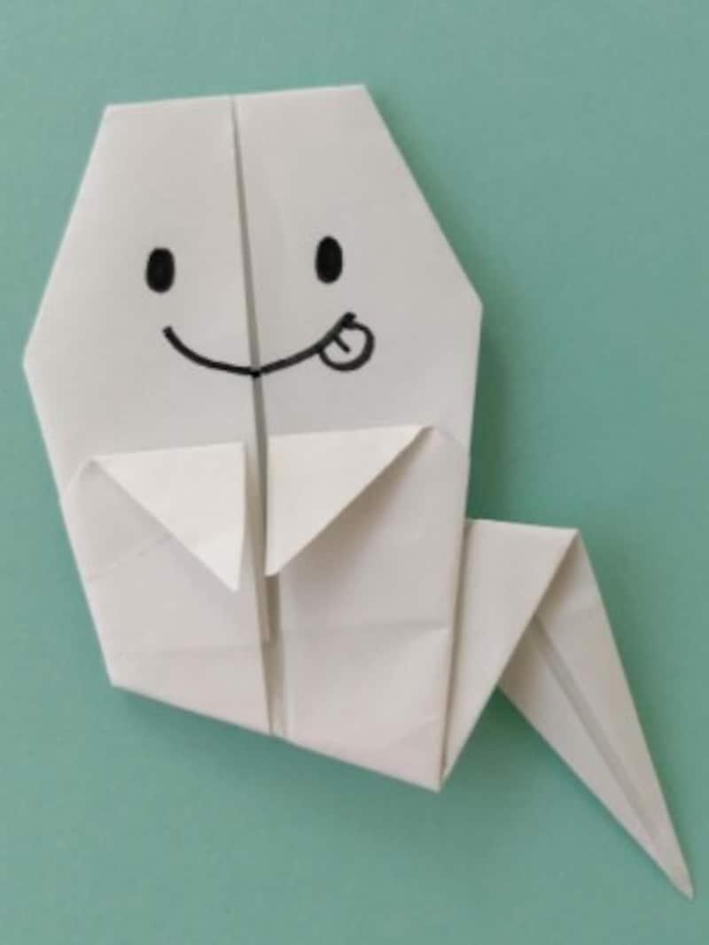 ハロウィン折り紙おばけの折り方