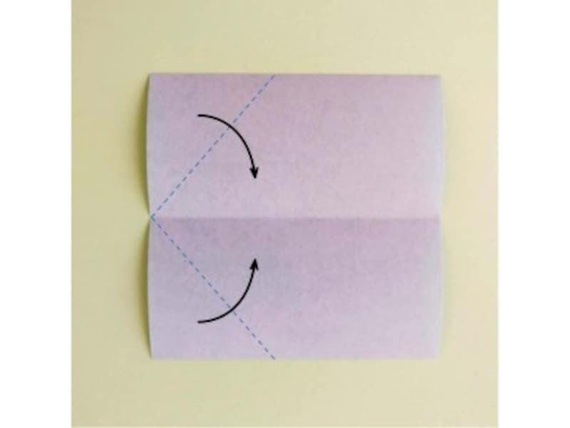 折り紙リース土台(8枚)クリスマスリース作り方2