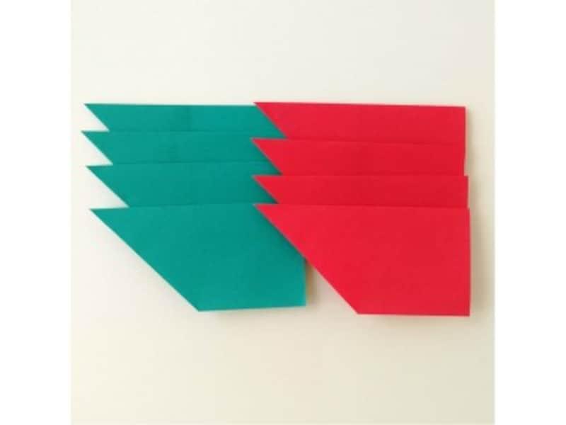 折り紙リース土台(8枚)クリスマスリース作り方4