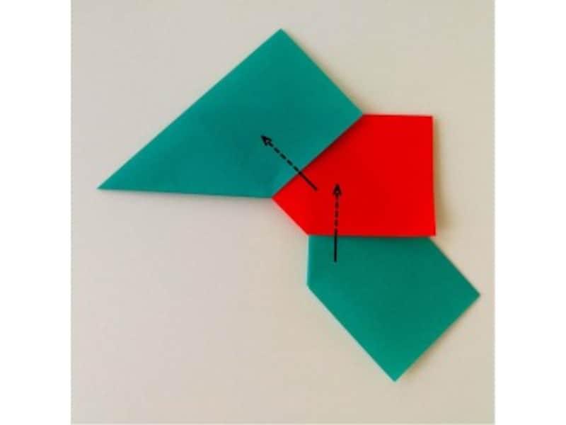 折り紙リース土台(8枚)クリスマスリース作り方6