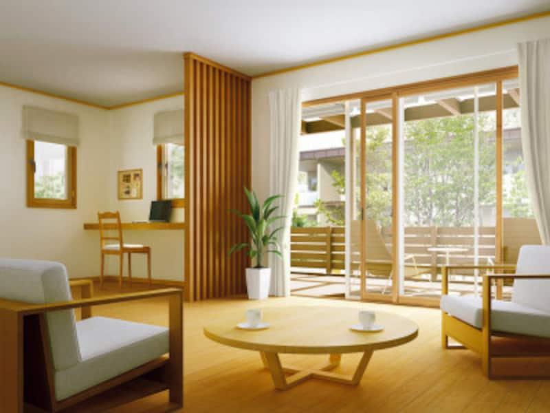 1窓約60分で内窓を取り付け可能。居室用だけでなく浴室用も。引き違いだけでなく内開き窓やFIX窓なども揃う。[プラマードUAfter引違い窓(テラスタイプ)開き窓] YKKAPhttp://www.ykkap.co.jp/
