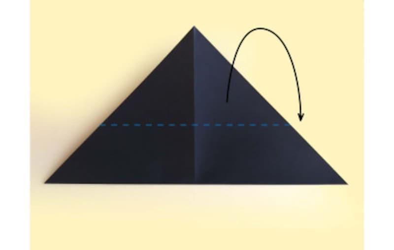 ハロウィン折り紙|コウモリの折り紙折り方3