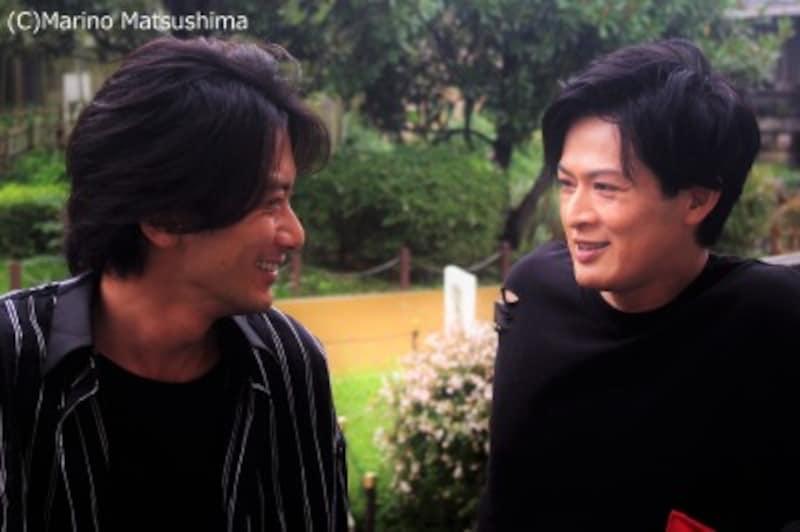 手ごたえたっぷりの稽古の様子をかわるがわる語って下さった新納さん(右)、小西さん(左)。(C)MarinoMatsushima