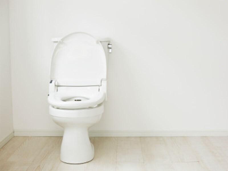 トイレ掃除のヒント:トイレ用のアイテムがないと、ちょっと寂しい印象かもしれませんが、衛生的で掃除もしやすいです