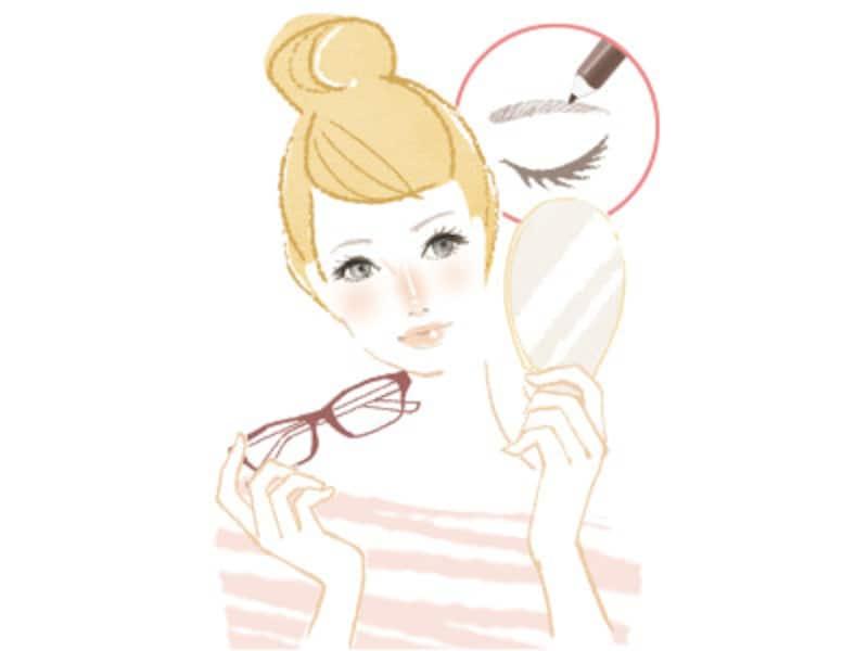 メガネをした状態でもおしゃれに見せるメイク方法とは?