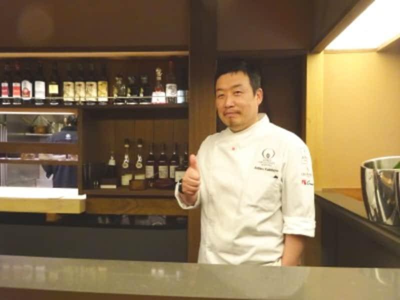 「アッサンブラージュカキモト」の垣本晃宏シェフ