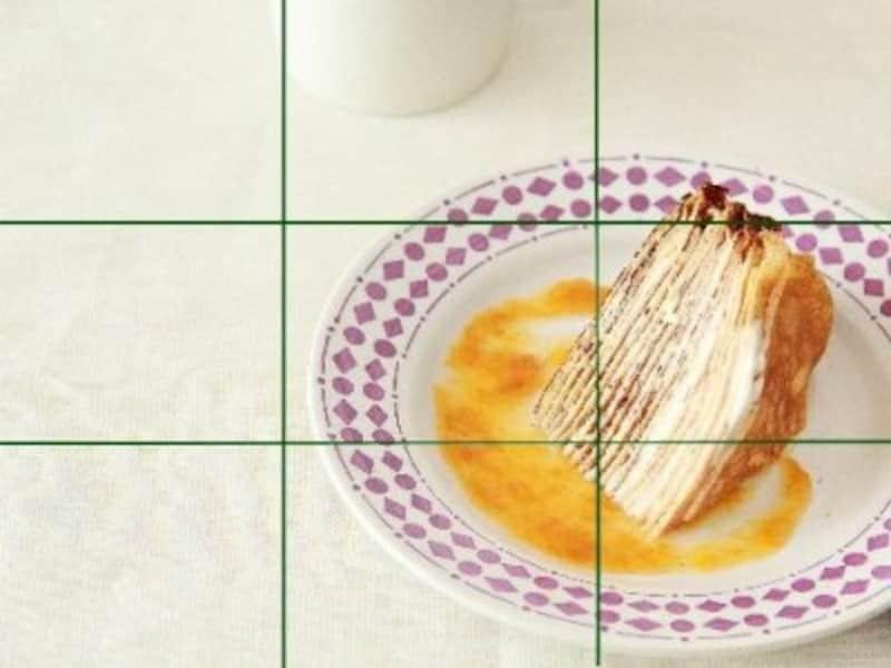 三分割構図:画面中に余白が生まれ、おしゃれに。被写体の説明や使い方などの説明には不向き