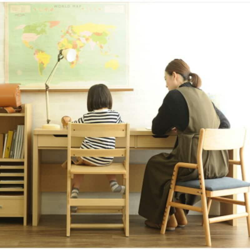 こどもと暮らし「Curio」(キュリオ)ロングデスクの学習机・勉強机