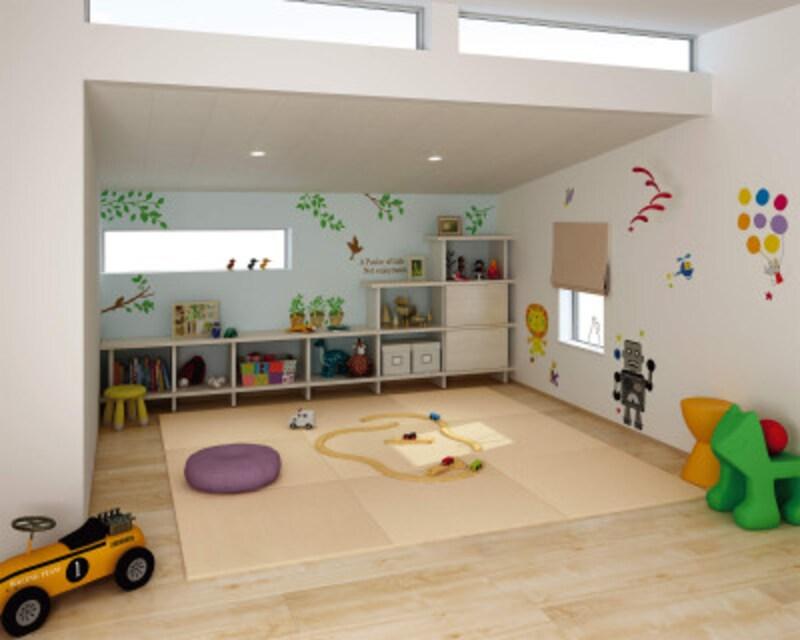 フローリングの上に置くだけでくつろぎのスペースを作ることができる。和紙でできた高機能な畳おもては、耐汚染性、防ダニ・防カビ性、耐光性も。[ZIPANG ここち和座 置き敷きタイプ] DAIKENhttps://www.daiken.jp/