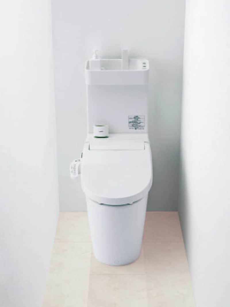 有機ガラス系素材ならではの新ボール面形状とターントラップ構造により節水と洗浄力が両立。低水圧対応や手洗い付きのタイプも揃う。[アラウーノ節水キレイ洗浄NewV] パナソニック http://sumai.panasonic.jp/
