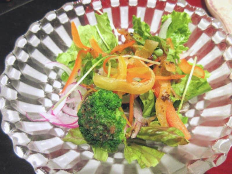 ハイアットリージェンシー東京鉄板焼グリルミックスサラダ
