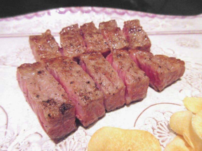 ハイアットリージェンシー東京鉄板焼グリル武州和牛サーロインステーキ