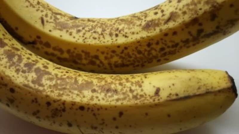 シュガースポットの出始めたバナナ
