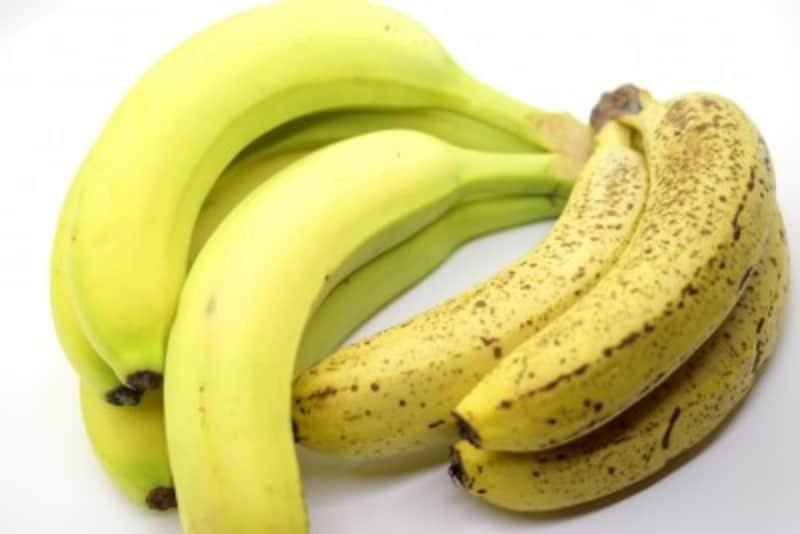 シュガースポットがあるバナナとないバナナ