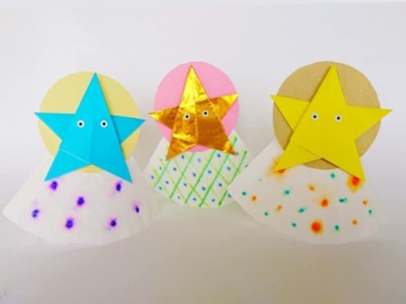 「折り紙星」で作った七夕の星の精