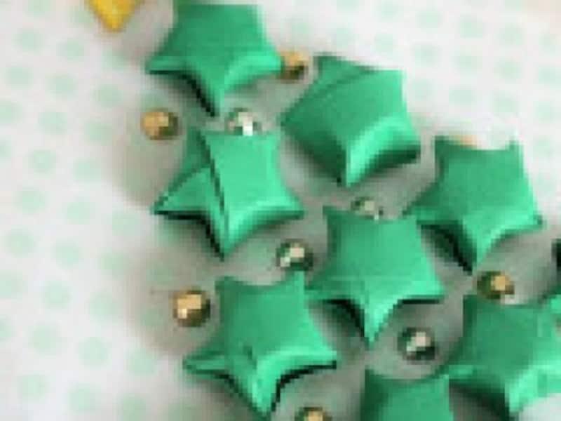 クリスマス製作・工作画像『ラッキースターの作り方立体星をクリスマスや七夕に飾ろう!』