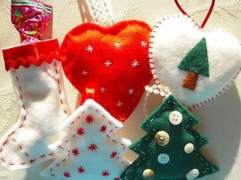 クリスマス製作・工作画像『手作りクリスマスオーナメント!フェルトで作れる』
