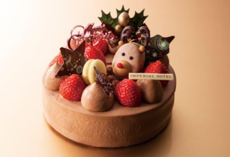 帝国ホテル東京のクリスマスショートケーキ<チョコレートクリーム>4,200円(12㎝)5,000円(15㎝)