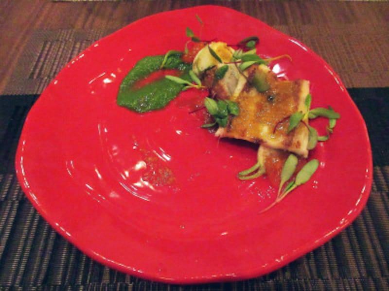 fits穴子の鉄板焼きサフランと生姜柿