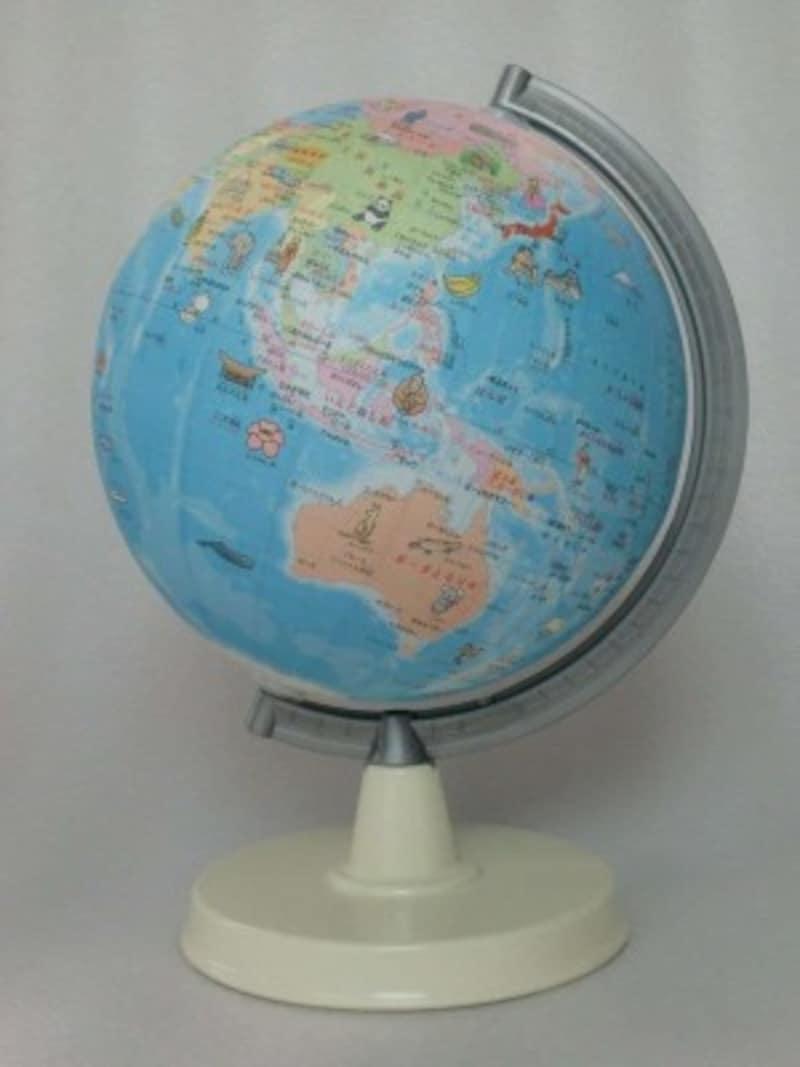 昭和カートン「絵入りひらがな地球儀」