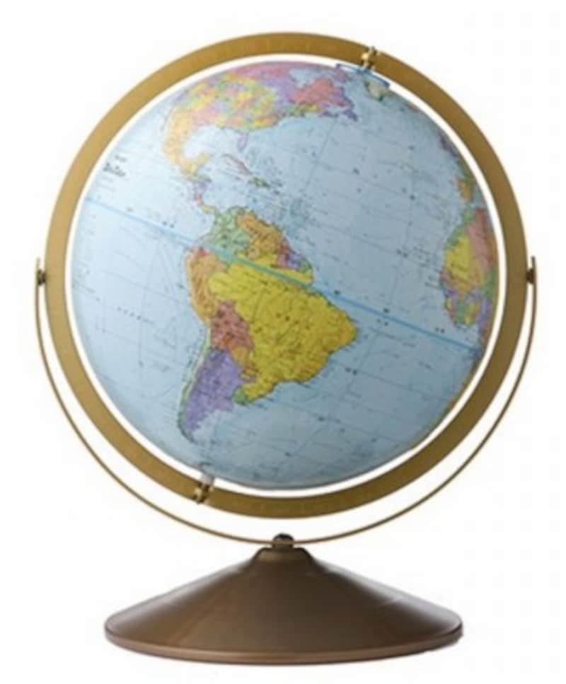 フロアスタンド型の地球儀、リプルーグル「トレジャリー」