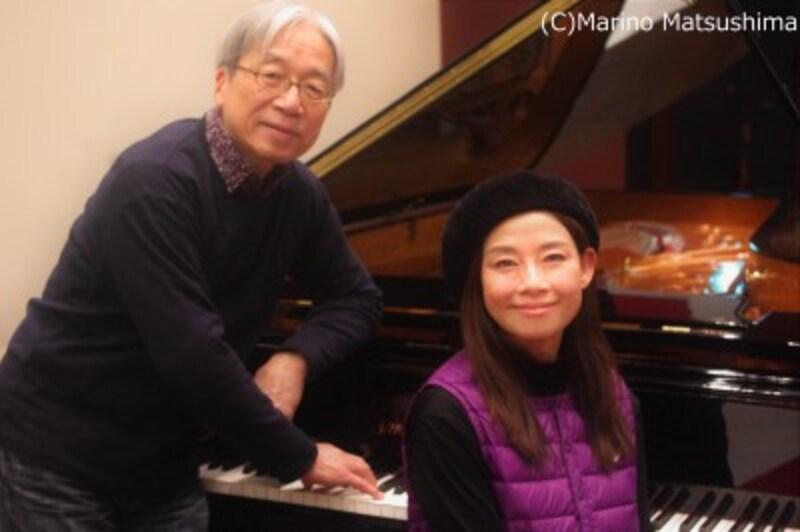 (左)佐藤允彦・慶應義塾大学卒業後、米国バークリー音楽院に留学、作・編曲を学ぶ。帰国後は多数のアルバム制作に携わり、国際ジャズ・フェスにも多数出演。(右)土居裕子・愛媛県出身。東京芸術大学卒業後「音楽座」主演女優として活躍。その後『サウンド・オブ・ミュージック』等の舞台に出演、ディズニー映画『ポカホンタス』吹替え等でも活躍。(C)MarinoMatsushima