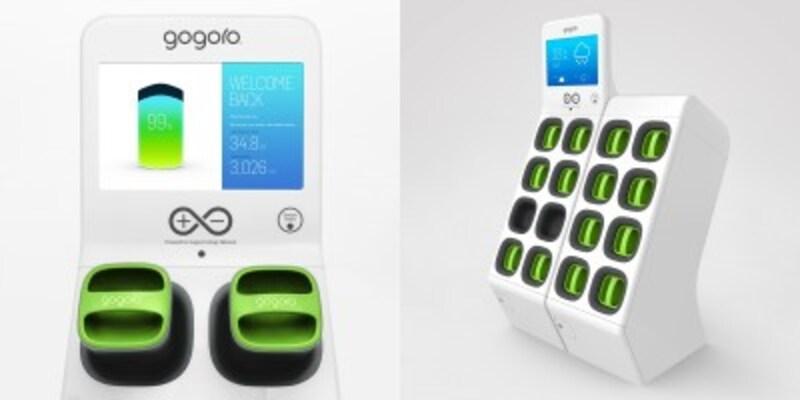 将来、ガソリンスタンドやコンビニエンスストアなどで見かけることが出てくる「Gogoro」のバッテリー交換スポット。