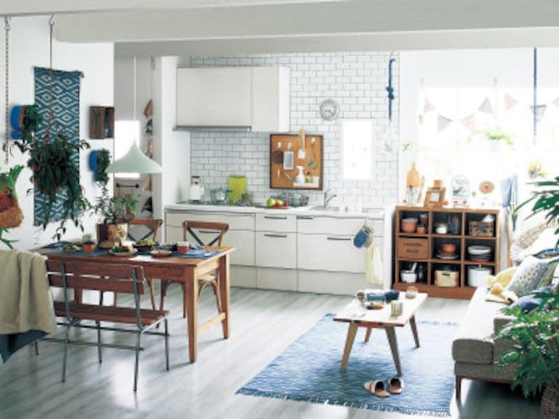 白色インテリア-キッチン