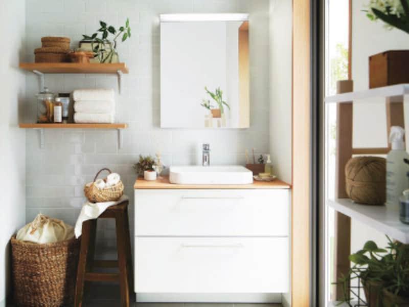 白い水まわり・洗面所