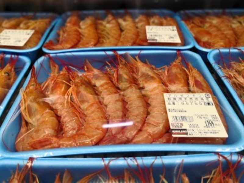 コストコのおすすめ食べ物12:刺身用 天然赤海老