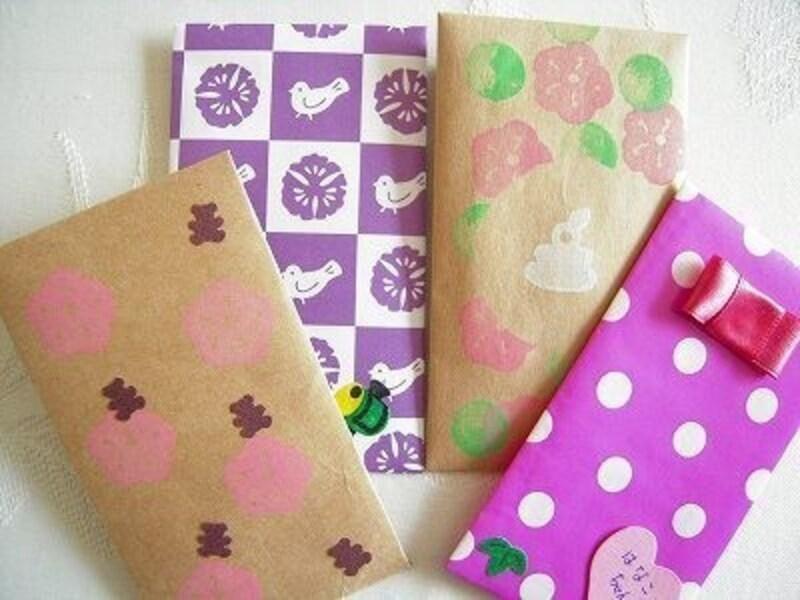 お正月工作・製作包装紙や紙袋をリサイクル!簡単ポチ袋