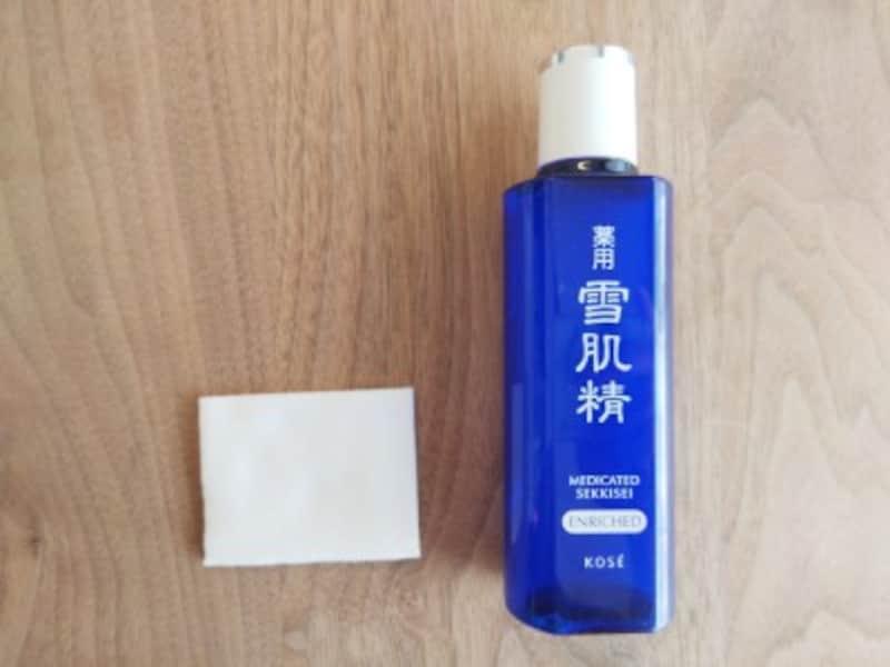 個人的、コットンで使うと気持ちいい化粧水NO.1!の雪肌精