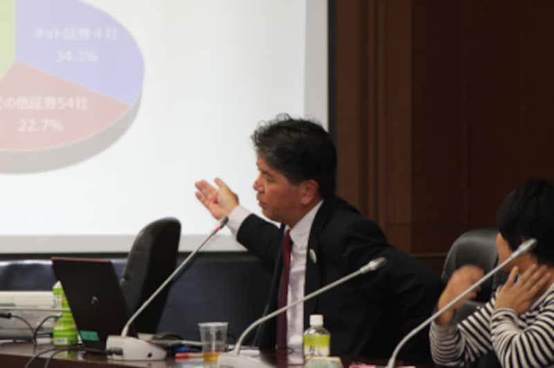 金融庁総合政策局総合政策課の今井氏によるつみたてNISA制度説明