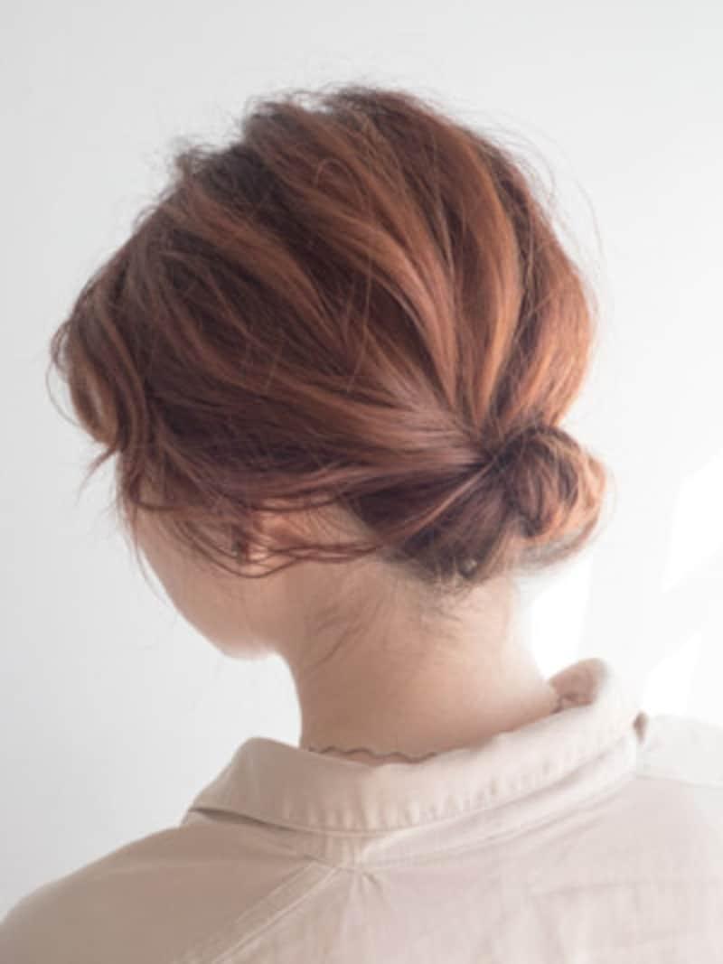 ギブソンタックのヘアアレンジのやり方!シンプルな簡単まとめ髪