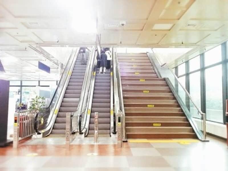 大邱国際空港内のエスカレーター