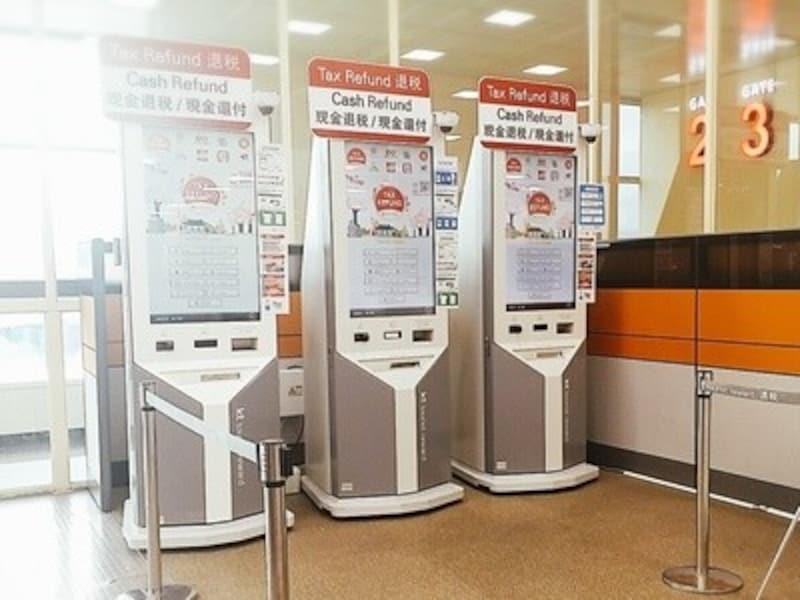 大邱国際空港制限区域内のTAXREFUND(事後免税制度)の機械