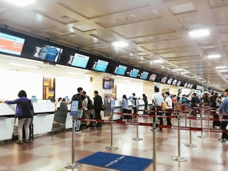 大邱国際空港チェックインカウンター
