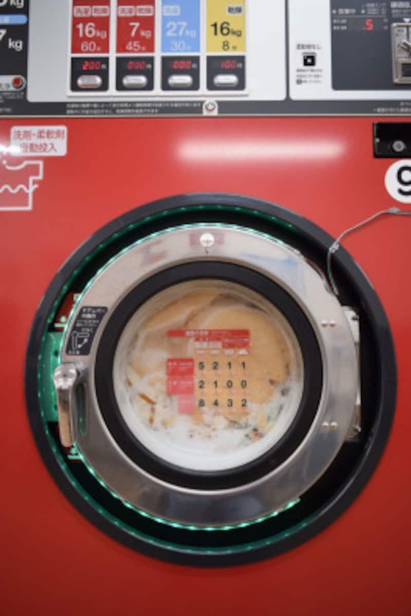 洗濯機稼働中