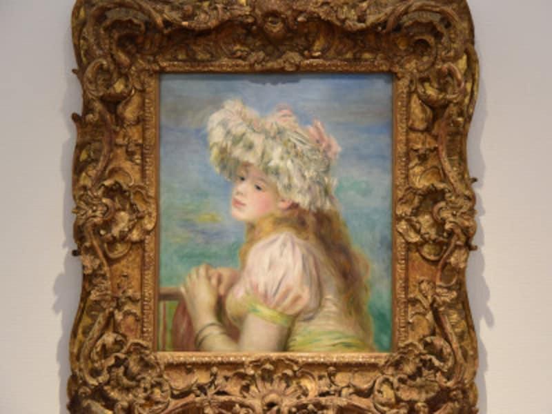 ルノワール『レースの帽子の少女』