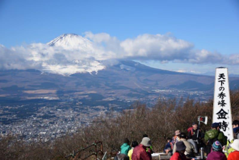 金時山頂上からの眺望