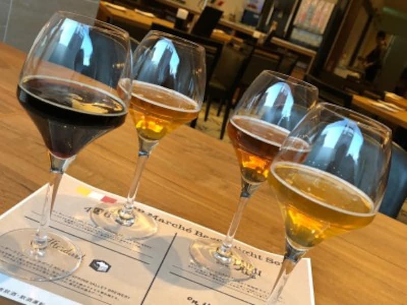 クラフトビールの飲み比べメニューも!